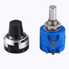 10K Ohm 3590S-2-103L Potentiometer With 10 Turn Counting Dial Rotary Knob HH