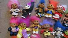 Lot Of 38 Vintage RUSS Collectible Troll Dolls Various Sizes And Colors