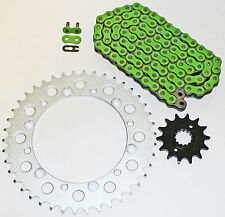 KAWASAKI 06-07, 09-12 KLX250 / 09-10 KLX250 SF GREEN CHAIN & SPROCKET 14/42 110L