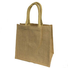5 x Luxury Medium Jute Bags Plain - Hessian / Shopping / Crafting / Gift / Promo