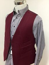 Mens moleskin waistcoat (LARGE) wine red RRP £59.99 country shooting hunting