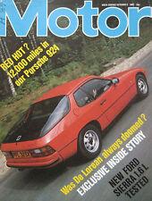 Motor magazine 9/10/1982 featuring Ford Sierra road test, Porsche 924