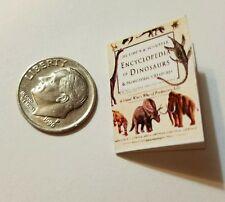 Miniature Dollhouse Action Figure  book Barbie 1/12 Scale Dinosaur Book 4