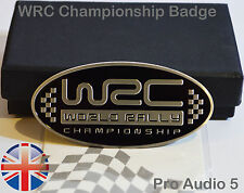 WRC World Rally Championship Car Badge - Brushed Aluminium Universal