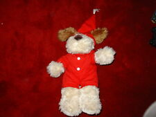 """Build a Bear Factory Dog 16"""" Plush Floppy eared Brown & Beige Clothed Doggie BAB"""