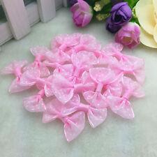 DIY 10 PCS Pink Polka Dot lace Ribbon Organza  BOW Appliques/Wedding decoration