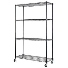 "48"" x 18"" x 71"" Adjustable  4 Tier Shelf Steel Wire Metal Shelving Rack Storage"
