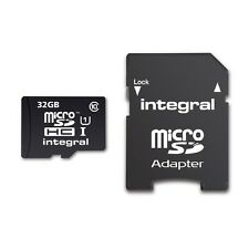 Integral 32GB UltimaPro MicroSD SDHC TF Memory Card For Samsung Sd Adapter Cl.10