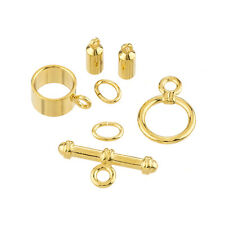 Barrel Shaped Kumihimo Findings Set (3mm) - Gold Plate (K28/3)