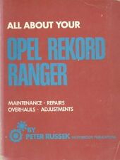 OPEL REKORD C RANGER SALOON FASTBACK ESTATE 1966 - 1972 OWNERS WORKSHOP MANUAL