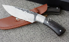 Knife- Forged Fixed Blade (Damascus Steel) 58HRC Combat Knife