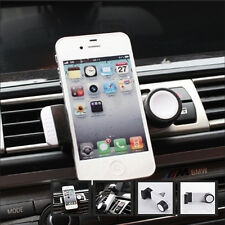 360 Rotate Car Auto Air Vent Phone Bracket White Holder Mount for iPhone 5 5s 6