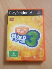 PLAYSTATION 2. EYE TOY PLAY 3 GAME. WITH MANUAL