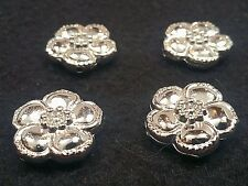 4 CCB Acrylic Beads, Flower, Nickel Color, Size: about 24x8x8mm, Hole 3mm