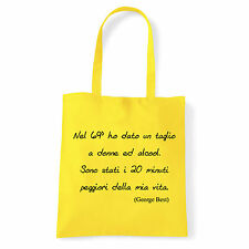 Art T-shirt, Borsa George Best, Giallo Shopper, Mare