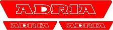 3 X ADRIA NEW CARAVAN/MOTORHOME  DECALS STICKERS CHOICE OF COLOURS