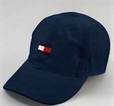 Tommy Hilfiger Big Flag Logo Baseball Ball Cap Hat Navy Blue One Size UNISEX