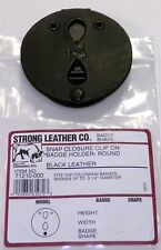 New Strong Leather Company Round Snap Closure Clip On Badge Holder 71210-0002