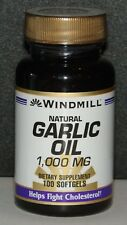 Windmill Natural Garlic Oil 1000mg Softgels 100ct -Made in the USA