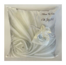 Personalised Ring Bearer Cushion with detachable ring pouch - wedding keepsake