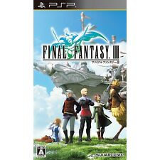 PSP Final Fantasy III 3 Japan Import Free Shipping