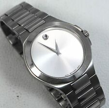 Movado Mens Museum Watch 01 1 14 1032 Stainless Steel Silver Dial