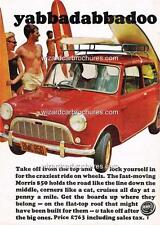 1965 MORRIS MINI 850 AUSTRALIAN A3 POSTER AD ADVERT ADVERTISEMENT