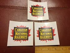 Railroad Decals (3)  -NEW- Canadian National Ry (CN)- free shipping- from USA!