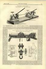 1888 Fly Rope Travelling Crane Double Hetherington Saw Cutting Steel