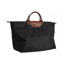 Longchamp Le Pliage Travel Nylon Handbag Bag in Black new extra large