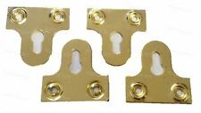 38mm Brassed Slotted Mirror Hanging Plates Flat Bracket Picture Frame Hanger x4