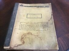 Vintage 1970 Roka Volkswagen replacements parts & accessories catalog