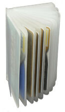 (2) Clear Sleeves Plastic 6 page Insert Replacmet Credit Card Holder Trifold