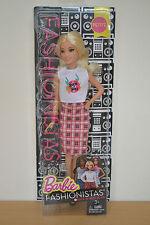 2016 Fashionistas playline Rock 'n' Roll A Cuadros Petite Barbie-Nuevo Lanzamiento