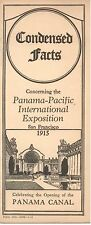 """Condensed Facts Concerning the Panama-Pacific Universal Expo"" - PPIE Booklet"