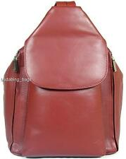 NEW GIRLS/LADIES VISCONTI RED SOFT LEATHER BACKPACK BAG