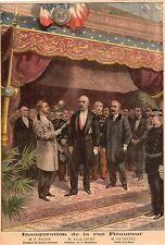 PARIS INAUGURATION RUE REAUMUR FELIX FAURE BAUDIN DE SELVES IMAGE 1897 PRINT