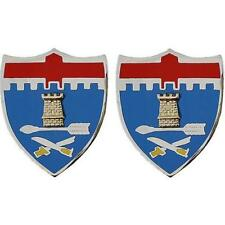 USA Army Crest 11th Infantry Regiment (Army Issue) 1 Pair