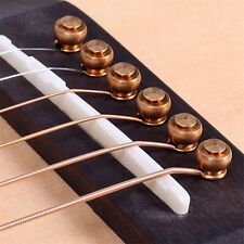 6 Pcs Solid Brass Bridge Pins For Acoustic Guitar Strings Accessories DIY IB