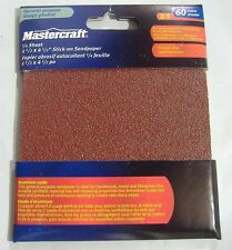 LOT OF 5 SHEETS 60 GRIT 1/4 SHEET PALM SANDER PSA STICK ON SANDPAPER 4 1/2