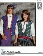 Set of 5 Tahki Knitting Patterns - Sweaters, Vests - Men's & Women's