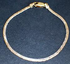 """Signed PR Italy 925 Sterling Silver  Thin Link Chain 7"""" Bracelet"""