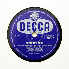 "TOMMY STEELE & THE STEELMEN ""Butterfingers / Cannibal Pot"" DECCA F-10877 [78]"