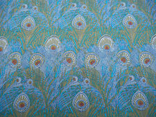 Liberty of London Tana Lawn Fabric 'Hera' 2.5 METRES x 136cm Peacock Feathers