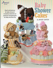 """""""BABY SHOWER CAKES""""~Annies Attic CROCHET PATTERN BOOK ONLY~3 Designs~SEE PICS"""