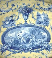 8 3/4 YDS ROMANTIC FRAGONARD TOILE FABRIC ~ BRAEMORE TEXTILES UPHOLSTERY DRAPERY