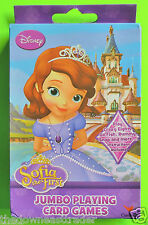 Disney Sofia the First Jumbo Playing Cards Rummy Crazy Eights Go Fish Snap + New