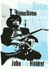 John Lee Hooker blues poster prints hand signed by artist