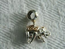 Clogau Sterling Silver & 9ct Welsh Gold Indian Elephant Bead Charm RRP £109.00