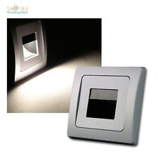 "DELPHI luz empotrable LED ""COB"" plata 110lm 8x8cm incrustada pared de escalón"